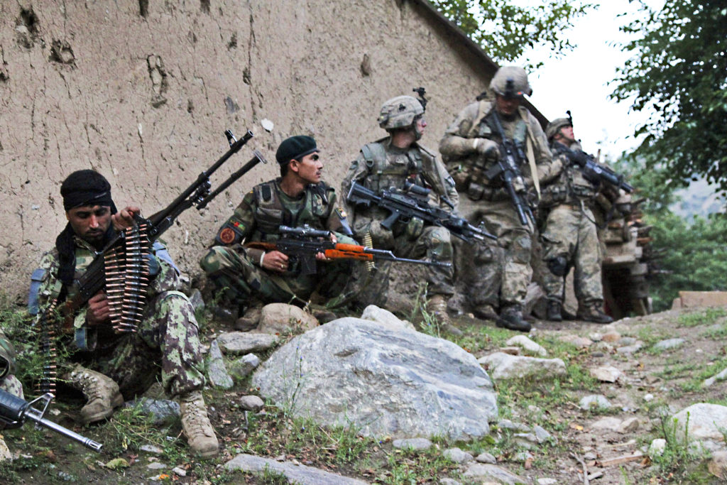 Afghan, coalition forces clear towns